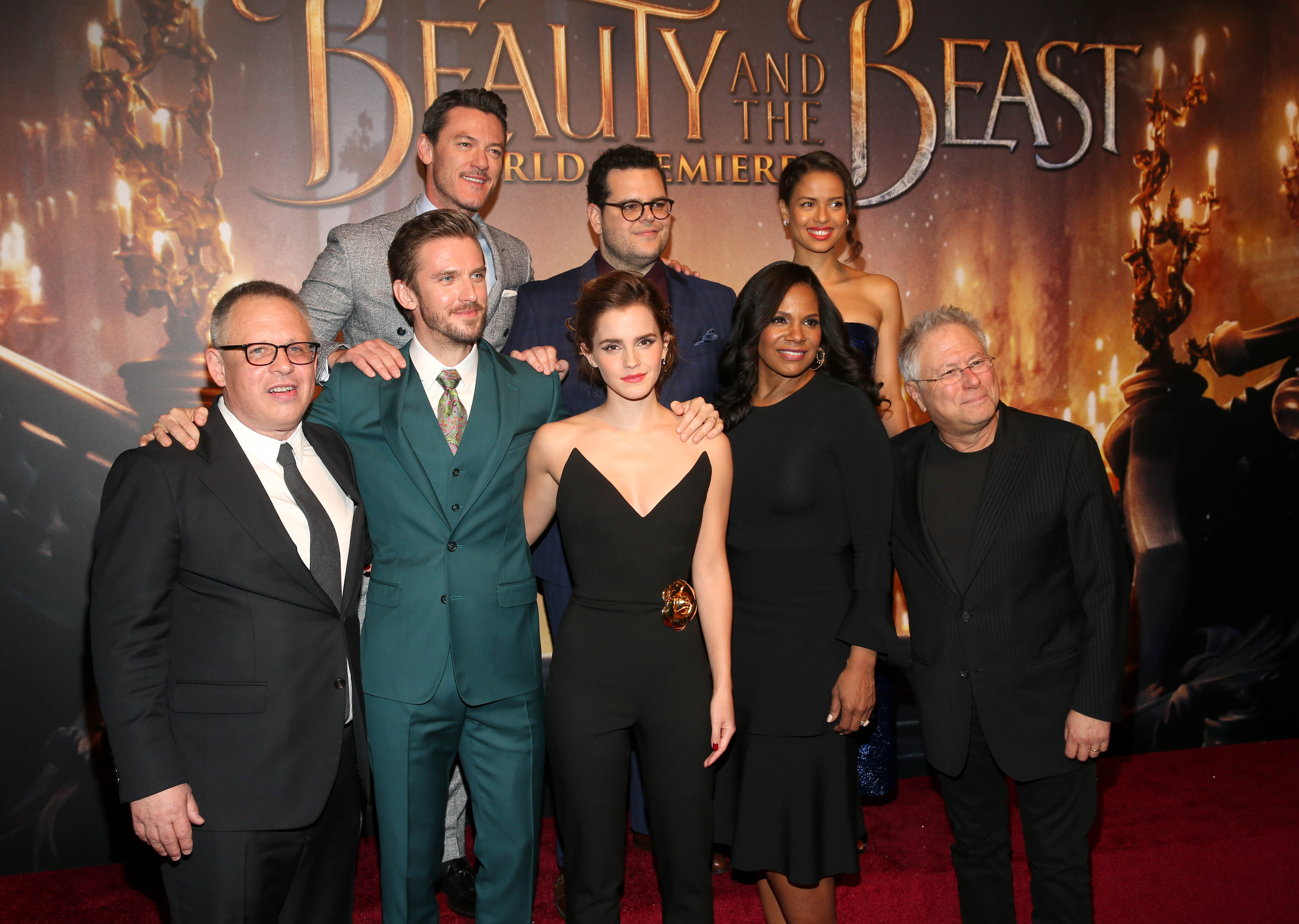 Emma Watson Audra Mcdonald And John Legend At L A Premiere Of Beauty And The Beast Playbill